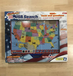GeoSafari USA Search Talking Interactive Geography Game NEW & SEALED!!!