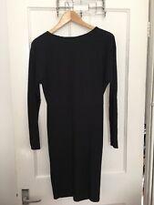 BNWT Next Size 8 Stretch Dress Bodycon Black Ribbed RRP £42