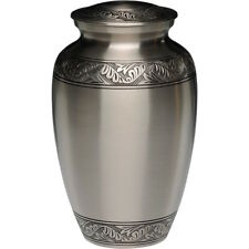 Brushed Pewter Adult Cremation Urn: Free Shipping