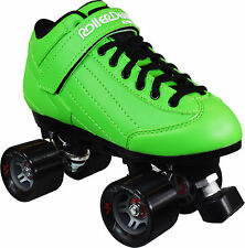 Roller Derby Stomp Factor Mens Ladies Quad Fashion Roller Skates GREEN US Size 8