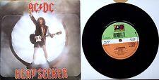 "EX/EX! AC/DC HEATSEEKER / GO ZONE 7"" vinyl 45 1988"
