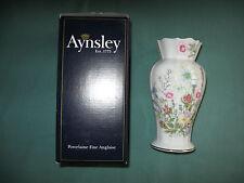 """Aynsley Wild Tudor Edwardian Vase WTUG20144 height ~ 15.5 cm 6"""" boxed"""