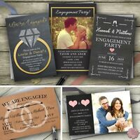 Personalised Engagement Invitations Photo Party Invites With Envelopes SaveDate
