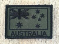 Australia, Australian Flag, SAS, Army, ADF, OD Green, Military, Patch, Subdued