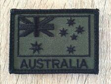Australia, Australian Flag, SAS, Army, ADF, OD Green, Military, Patch, Subdued