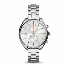 NEW* Fossil Land Racer Chronograph Stainless Steel Watch CH2975 Ladies Women's