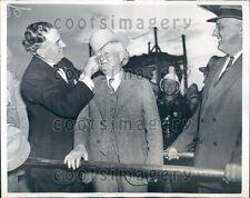 1937 US Vice President John Nance Garner Receives Ten Gallon Hat Press Photo
