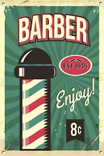 Friseur Ladenschild, Metallschild, Geschäft poliger,Vintage Stil,Friseurschild