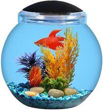 KollerCraft 1.5 Gallon Betta Fish Bowl with LED Lighting