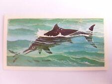 Brooke Bond Prehistoric Animals tea card 33. Ichthyosaurus. Dinosaurs.