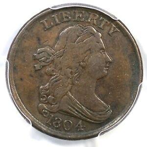 1804 C-13 PCGS XF 45 Plain 4 No Stems Draped Bust Half Cent Coin 1/2c
