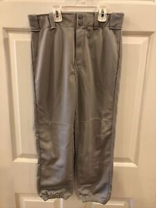 Rawlings Relaxed Fit Youth Baseball Pants XL Polyester Gray Excellent Condition