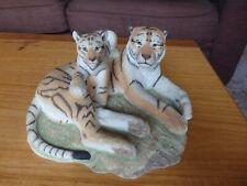 More details for sherratt & simpson large tiger & cub wildlife figurine big cats