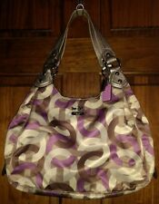 Coach Madison 14420 Scarf Print Optic Chainlink Maggie Shoulder Bag Hobo RARE