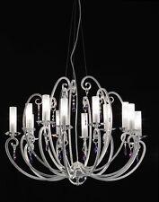 Lampadario classico di design in foglia argento coll. BELL valentina 3022/L12L