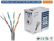 MATASSA CAVO RETE 305 METRI ETHERNET U/UTP CAT 5E 4X2 AWG 24 100% RAME LAN RJ45