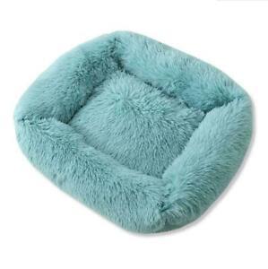 New Pet Dog Cat Bed  Luxury Shag Warm Fluffy Rectangle Cushion
