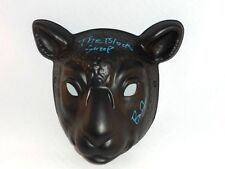 BRAUN STROWMAN SIGNED BLACK SHEEP MASK W/ FOLLOW THE BUZZARDS WYATT FAMILY WWE