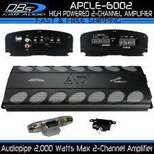 2 Channel Amplifier 2000W Max 2CH Fullrange Car Audio AmpAudiopipe APCLE-6002