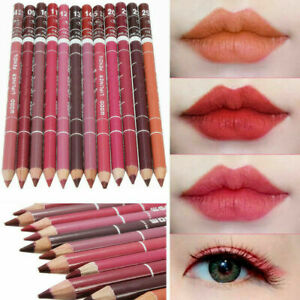 12 PCS Set Mixed Colour Lasting Lipliner Waterproof Lip Liner Pen Pencil Makeup