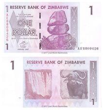 Zimbabwe 1 Dollar 2007 P-65 Prefix 'AE' Banknotes UNC