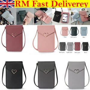 Touchable PU Leather Change Bag CrossBody Purse Wallet Mobile Phone Shoulder Bag