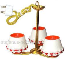 Hängelampe 3-flammig für Puppenhaus, Puppenstube Lampe aus Messing Beli-Beco 453