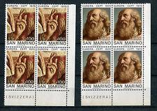 San Marino 1975 Europa in QUARTINA Mnh