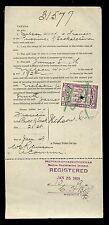 CANADA SASKATCHEWAN 1909 LAW TAX MONEY LOAN ORDER...BAY HORSE NAMED JIM