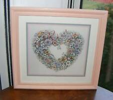 """Home Interiors Homco """"From the Heart"""" Picture Floral"""