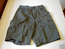 USED FADED GLORY OLIVE CARGO SHORTS - SIZE 30