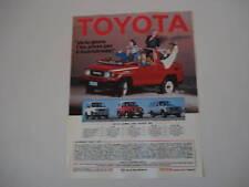 advertising Pubblicità 1987 TOYOTA BJ 73
