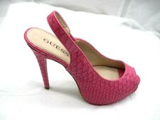 Guess size 8M Gwaerra pink peep toe platforms womens ladies shoes heels pumps