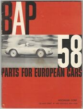 1958 BAP Parts for European Cars Automotive Catalog