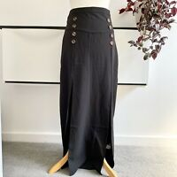 NASTY GAL Maxi Skirt Size 8 black | Smart CASUAL splits
