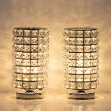 Crystal Table Desk Lamp Set of 2 Modern Bedside Night Lights Crystal Decoration
