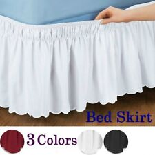 Hotel Bed Shirts Elastic Bed Skirt Dust Ruffle Pastoral Style Easy Fit Bedspread