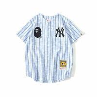 New Bape Bathing Ape Short Sleeve Tee Breathable Cardigan Baseball T-shirt 2020