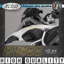 2 ADESIVI SERBATOIO STICKERS MOTO BMW R 1200 GS ADVENTURE LC ORO