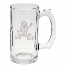 Crazy Exotic Frog Hand Etched Mug 25 oz Beer Stein Glass Cup