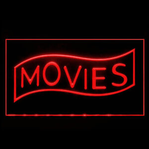 140089 Movies Home Theater Cinema High End Film Display LED Light Neon Sign