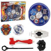 2018 Nuevo Azul 4 IN 1 Beyblade Burst Evolution set juguete para niños Arena