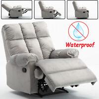 Manula Recliner Chair Sofa Waterproof Fabric Overstuffed Reclining Theater Seat