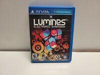 Lumines: Electronic Symphony (Sony PlayStation Vita, 2012) with Original Case