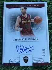 2017-18 National Treasures JOSE CALDERON SIGNATURES AUTO CARD #38/99 CAVALIERS