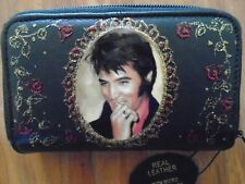 NEW ELVIS PRESLEY IMAGE  PICTURE  SOFT BLACK LEATHER  PURSE/WALLET