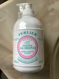 Perlier White Almond Bath Cream 16.9 oz Factory Sealed, NEW, Absolute Comfort