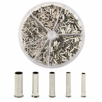 1900pcs Insulated Cable Lugs Wire End Sleeves Ferrules Kit 0.5~2.5mm² Assortment