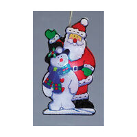 Christmas Battery Operated Santa and Snowman Lights XMAS190 - LED Xmas Figures
