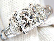 GIA certified 4.77ct. princess cut diamonds ring G/Si-1 platinum classic